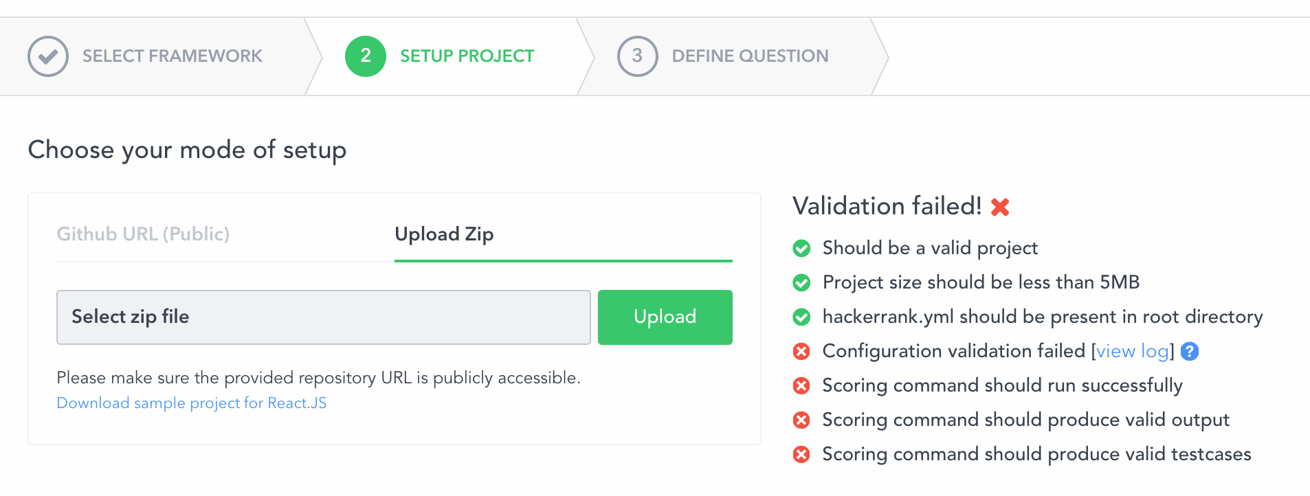 Creating a Front-end, Back-end or Full-stack Question