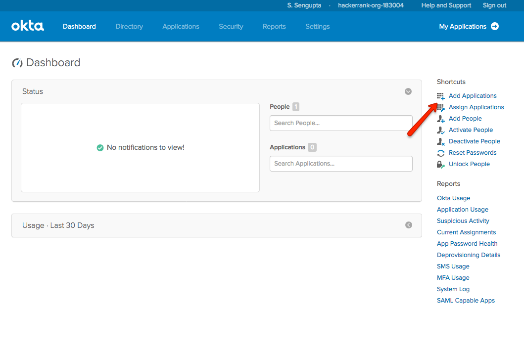 Setting up HackerRank SSO with Okta – HackerRank Support Center