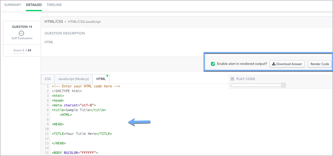 Viewing a Candidate's detailed Test report – HackerRank Support Center