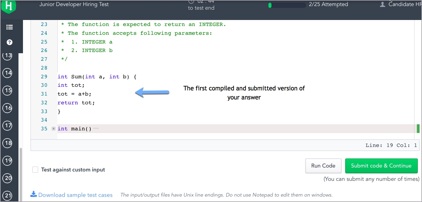 Can I resubmit my answers in the Test? – HackerRank Support Center