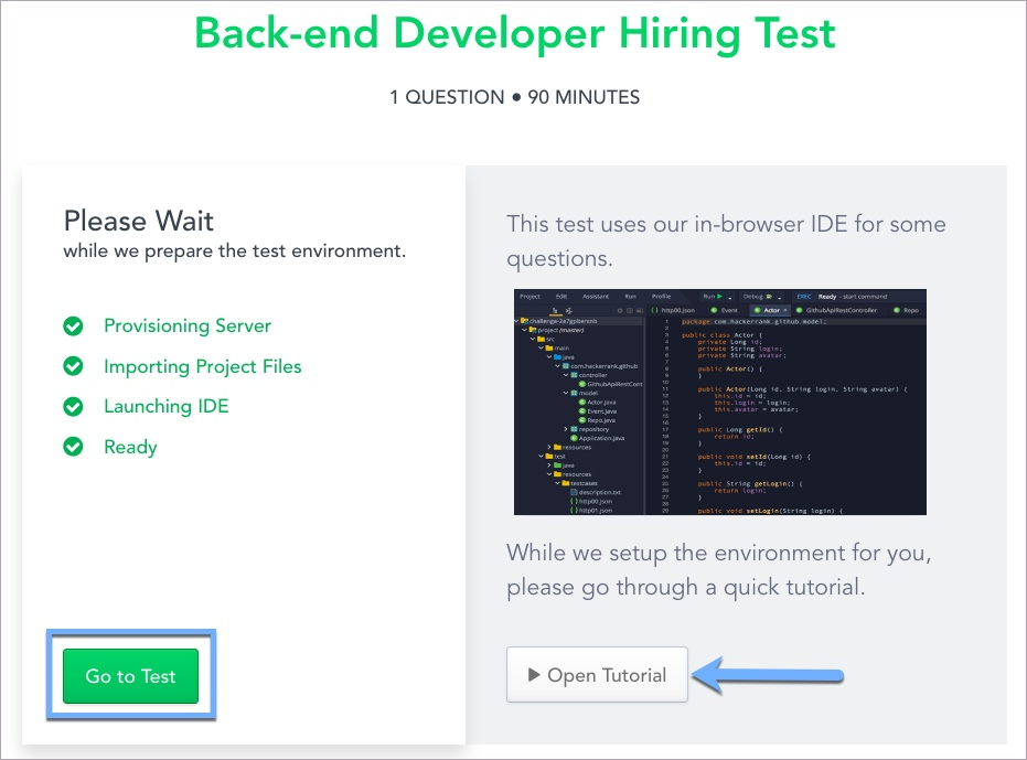 Getting familiar with the HackerRank coding and Test